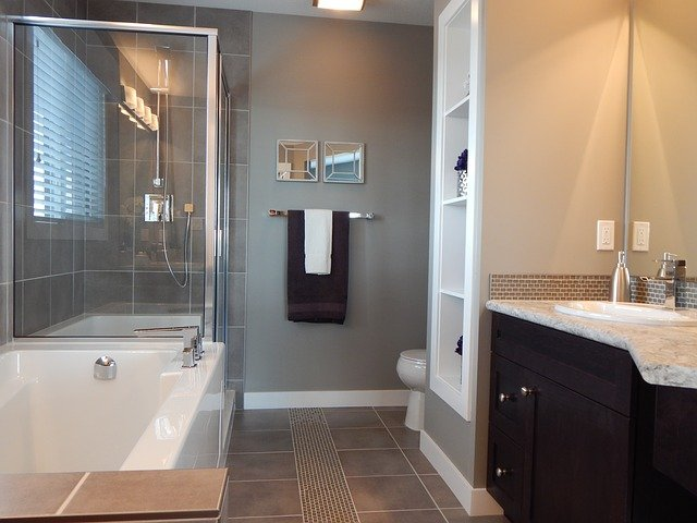 Glass-Enclosed Shower