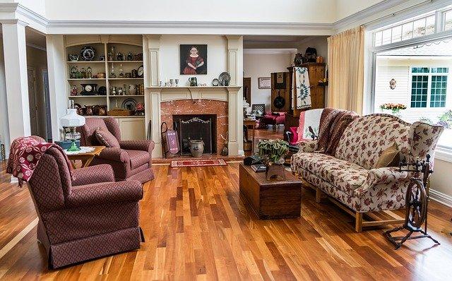 bamboo flooring in living room