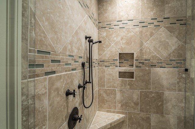 Walk-in Shower Under Eaves